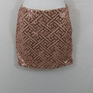 Ya Los Angeles rose gold sequin Skirt
